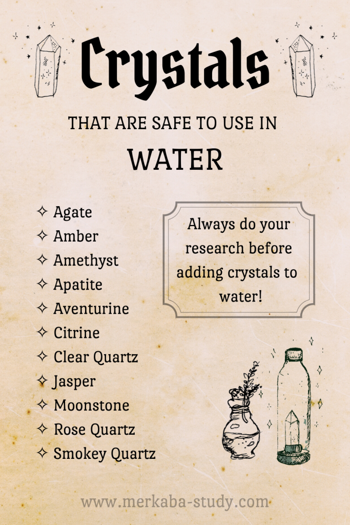 crystals that are safe to use in water, crystal elixir, gem elixir