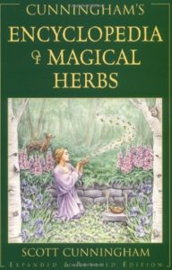 """magic books for beginner witches; """"Cunningham's Encyclopedia of Magical Herbs"""""""