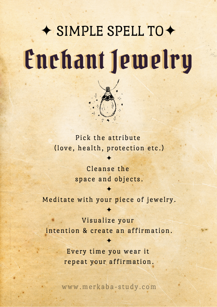 simple spell how to enchant your jewelry