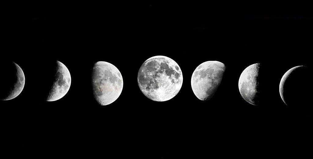 photo of lunar phases