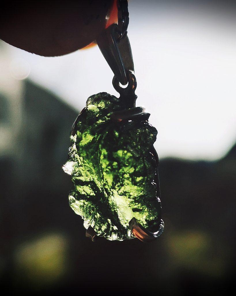 moldavite pendant enchant jewelry