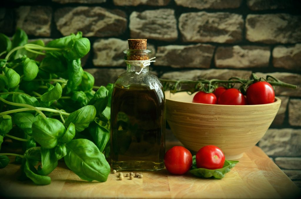 basil and tomatoes, olive oil kitchen witch recipes