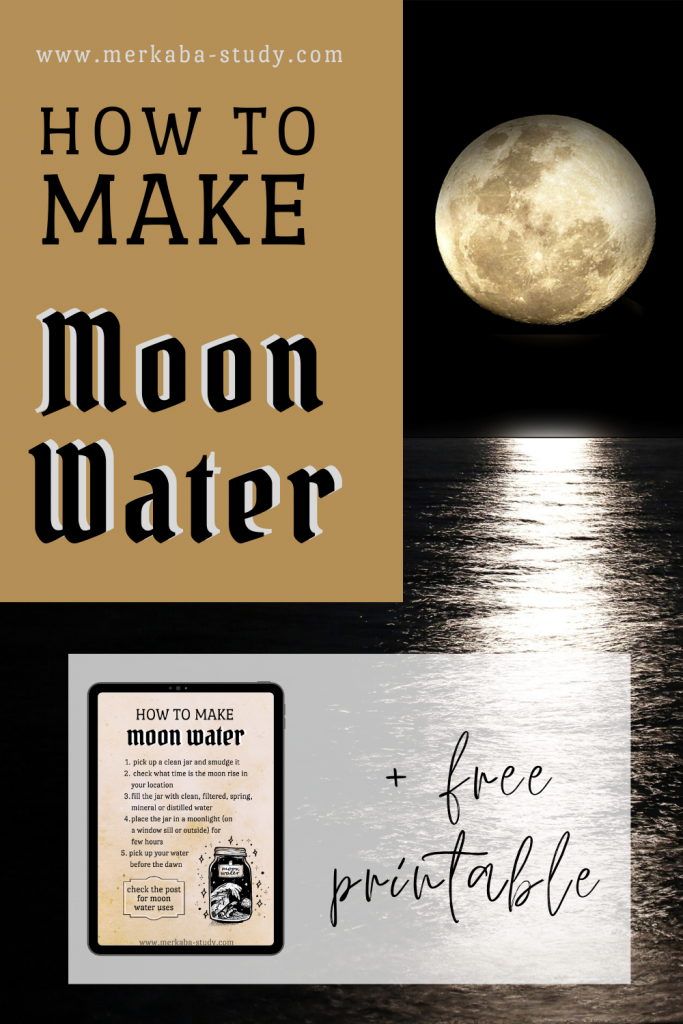 how to make moon water pinterest pin