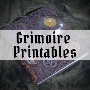 free grimoire printables