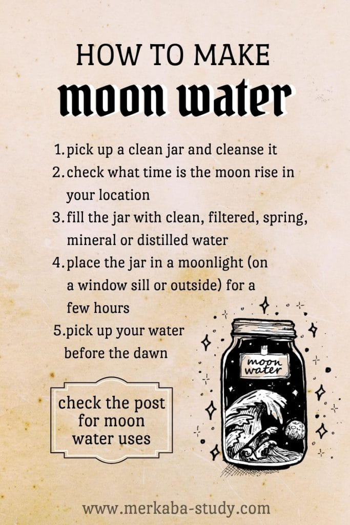 how to make moon water free grimoire pages