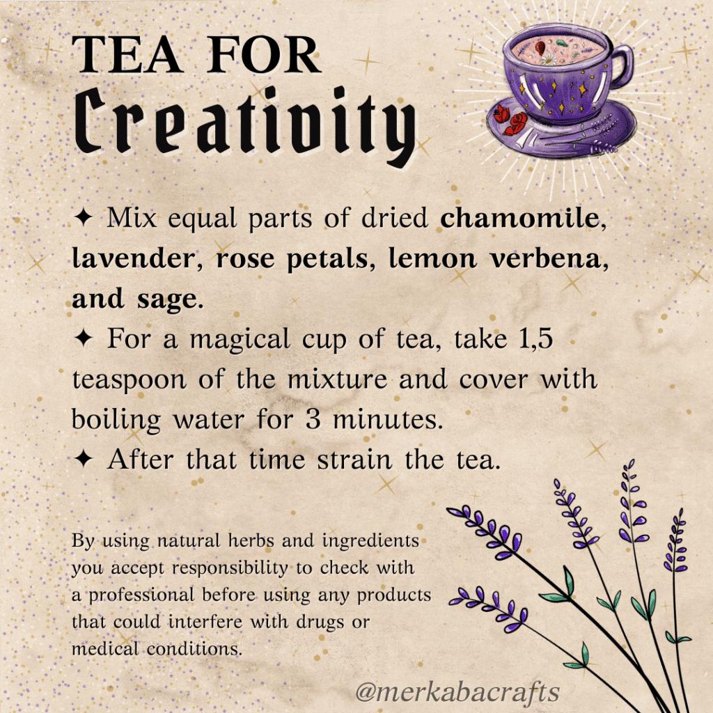 tea for creativity