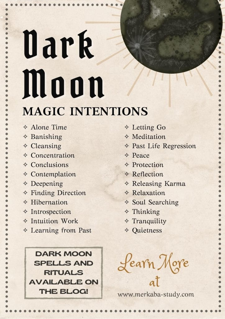 Image of the Dark Moon Magic Intentions
