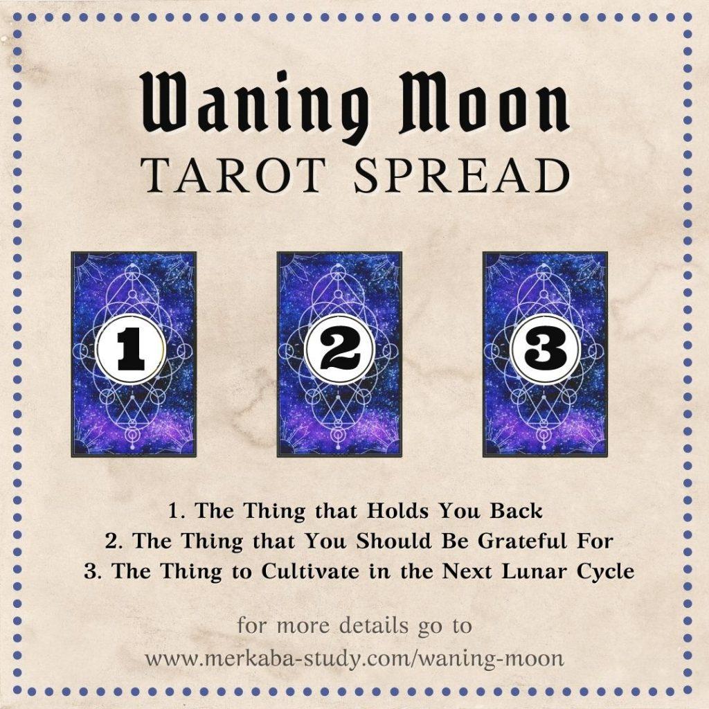 Waning Moon Tarot Spread