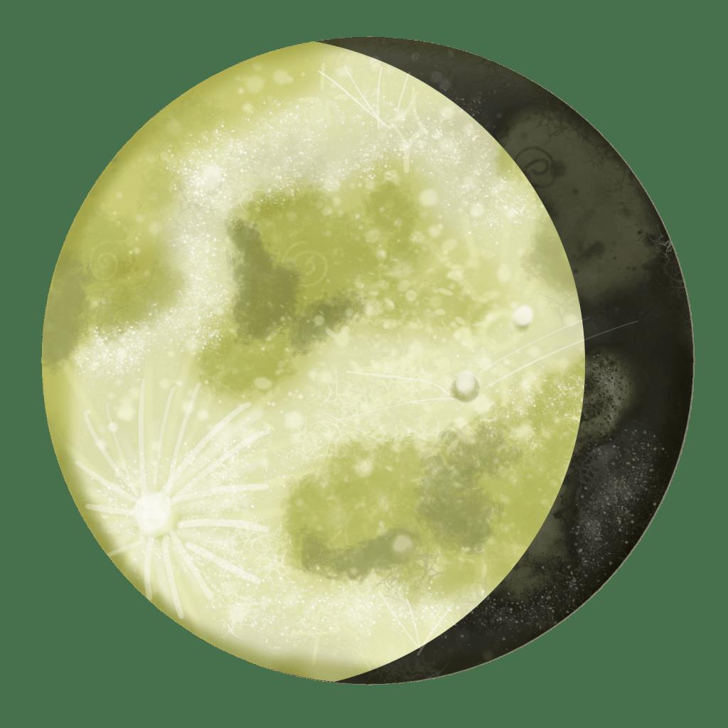 waning gibbous magic merkaba study