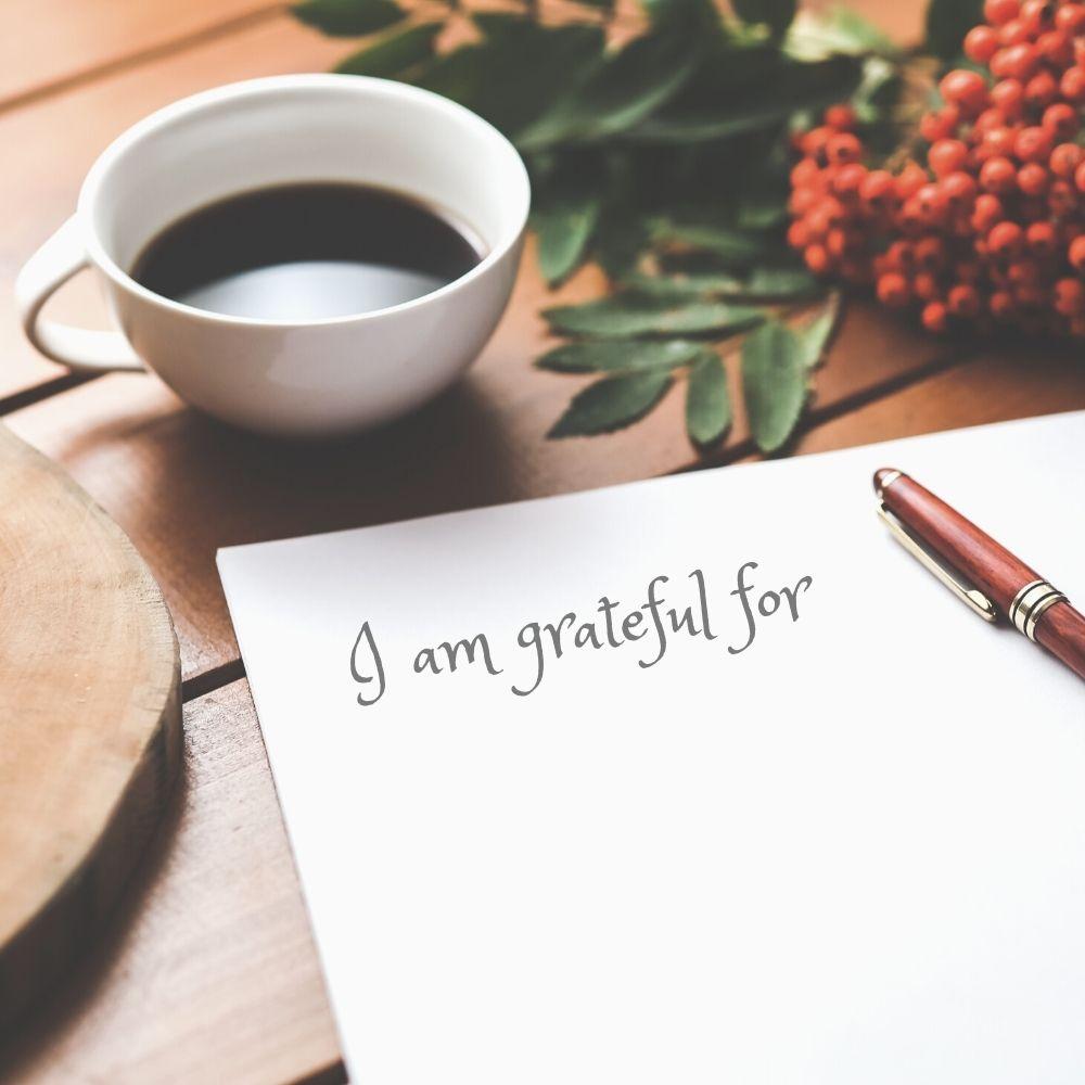 photo of a gratefulness list