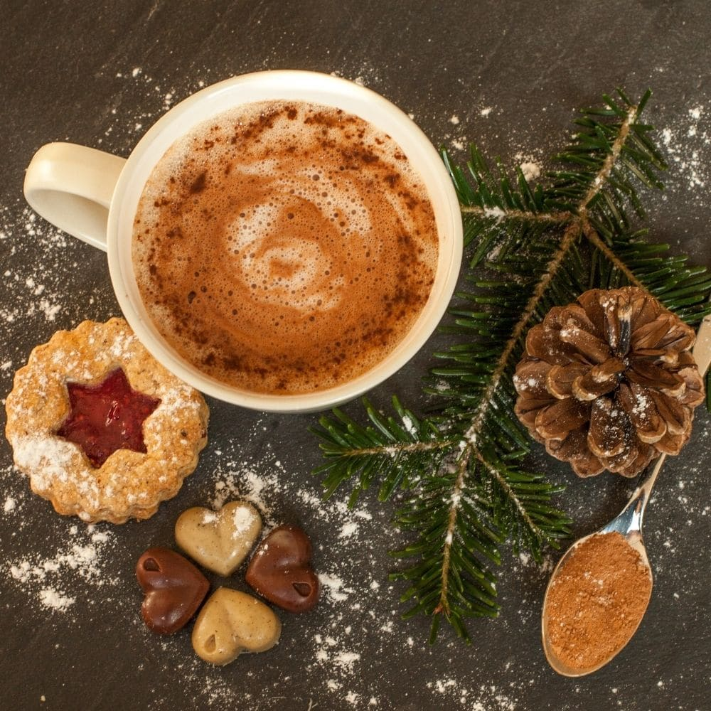 picture of hot chocolate perfect for yule 2020 celebration