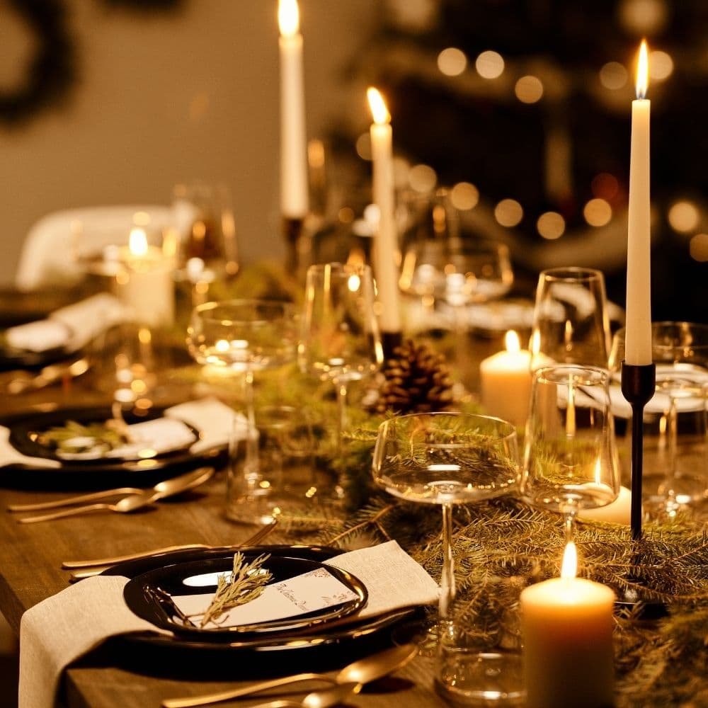 picture of a yule feast table