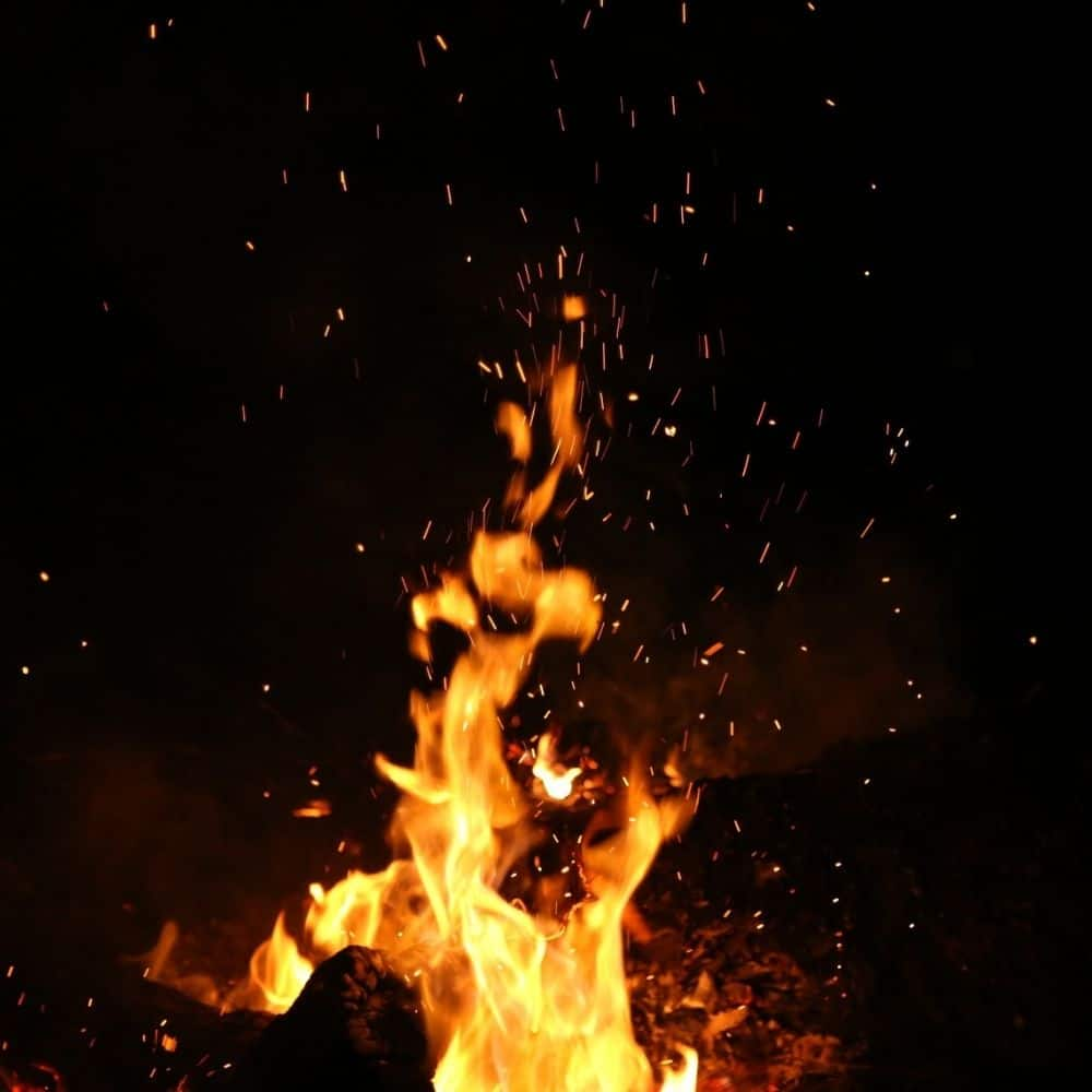 photo of a fire in honor of the goddess Brigid