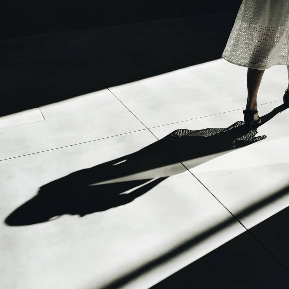 Photo of person's Shadow symbolically illustrating the Shadow Work