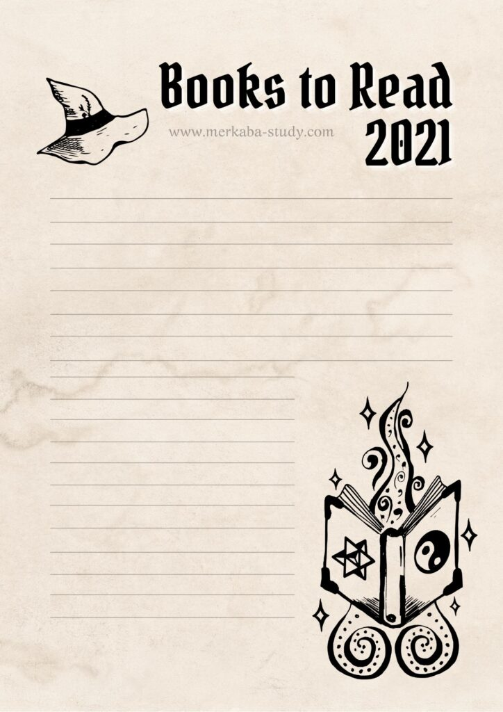 printable of witchcraft books to read in 2021