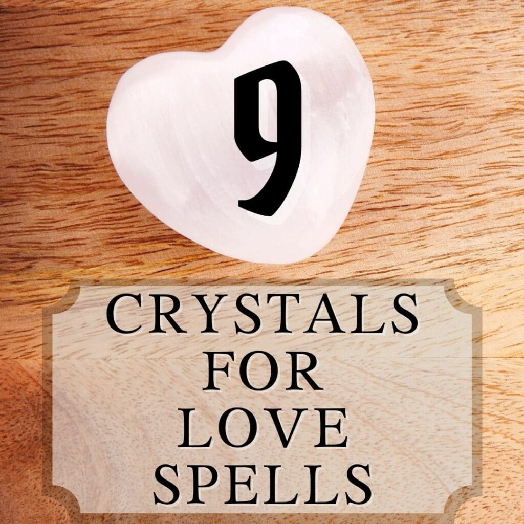 picture of rose quartz and title: 9 crystals for love spells