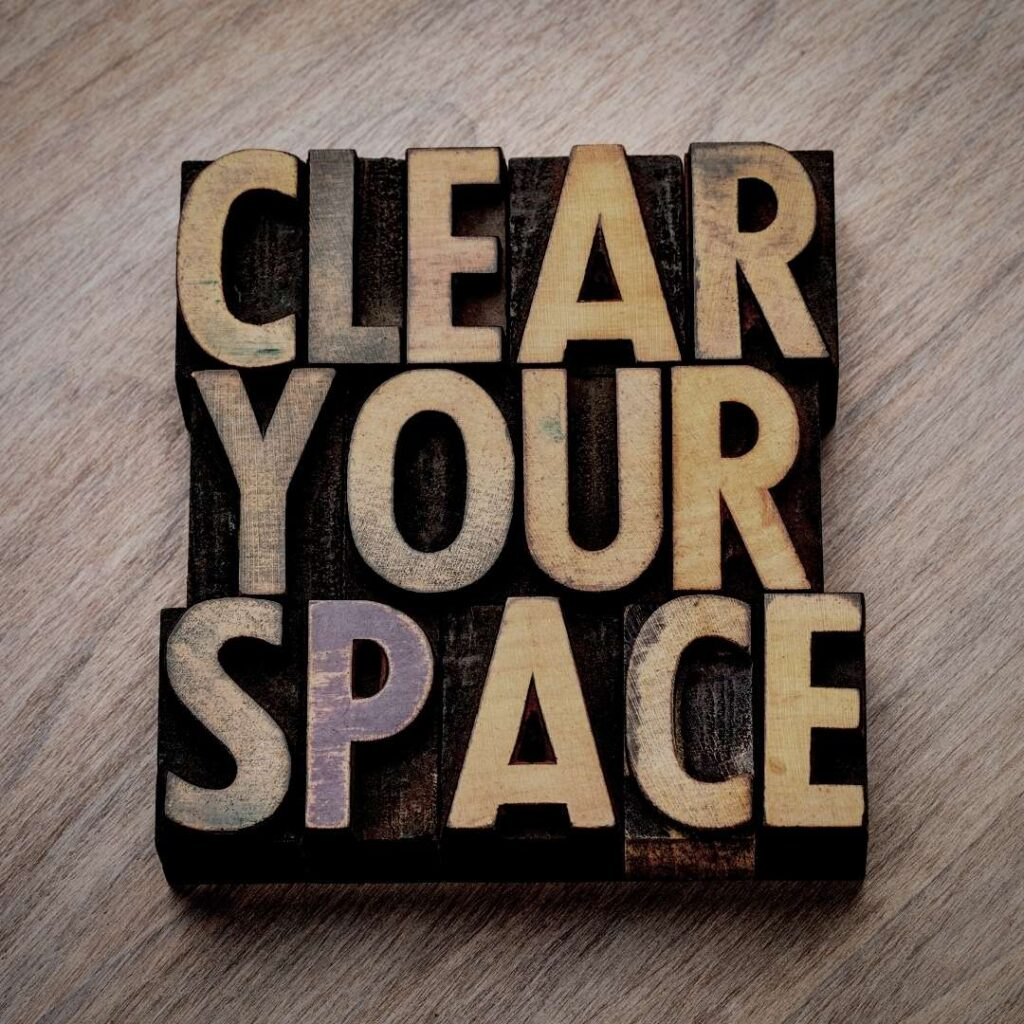 Text clean your space
