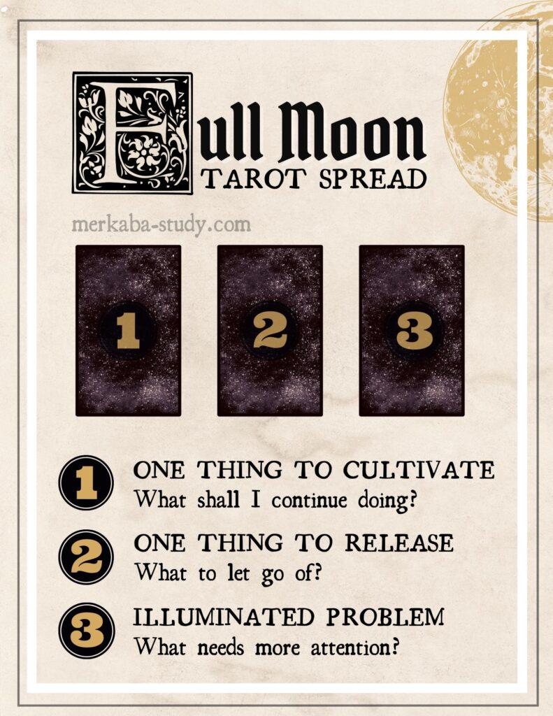 full moon tarot spread free printable