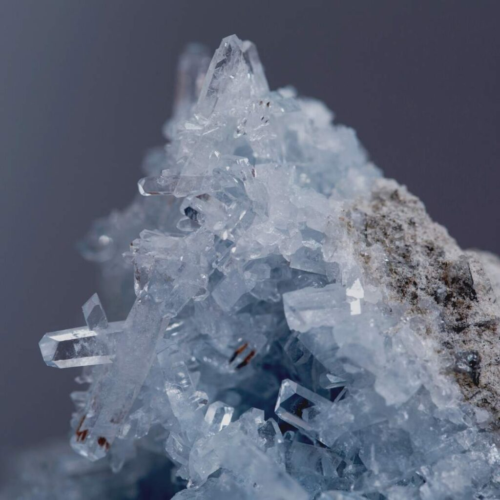 photo of a celestite - types of witches - crystal witch