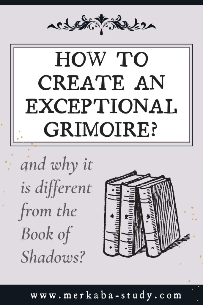Pinterest pin how to create an exceptional grimoire and why it is different from the book of shadows?