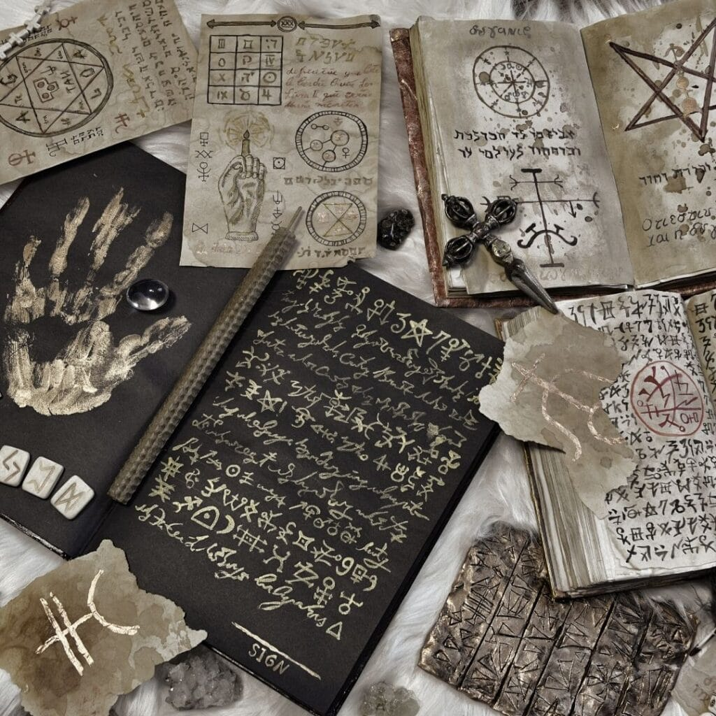 photo of encoded Book of Shadows