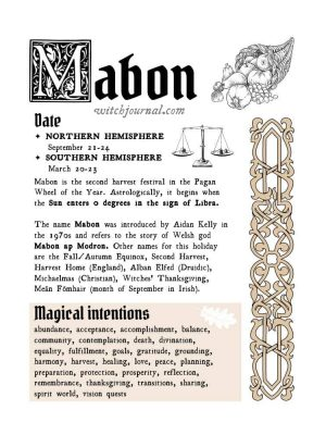 Mabon Book of Shadows Pages