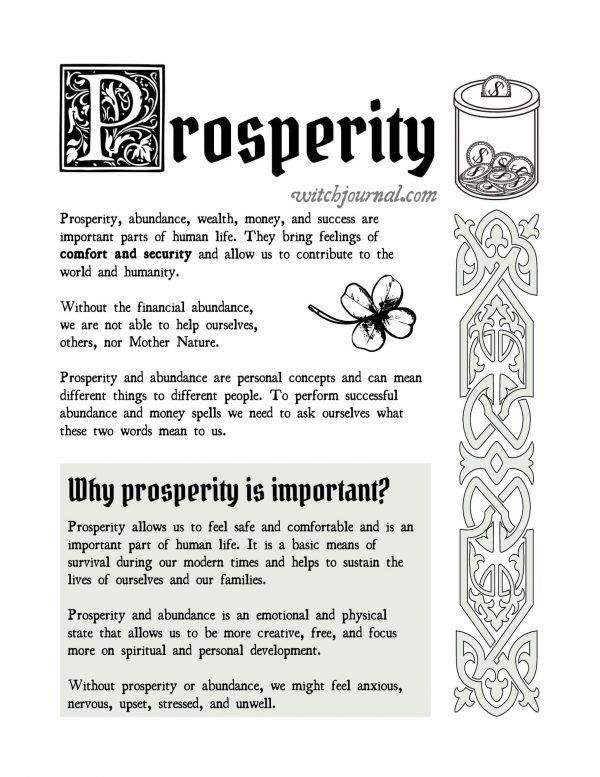 prosperity and money spells