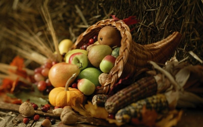 Photo of Mabon Celebrations with traditional cornucopia basket