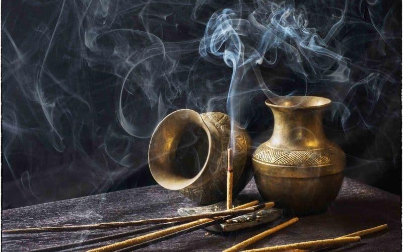 incense burner - witch ingredients