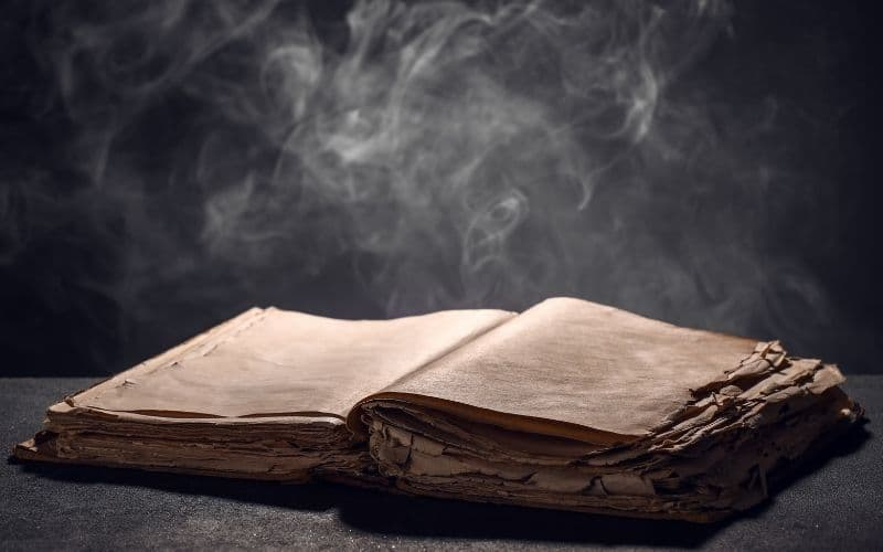 Photo of a book of shadows
