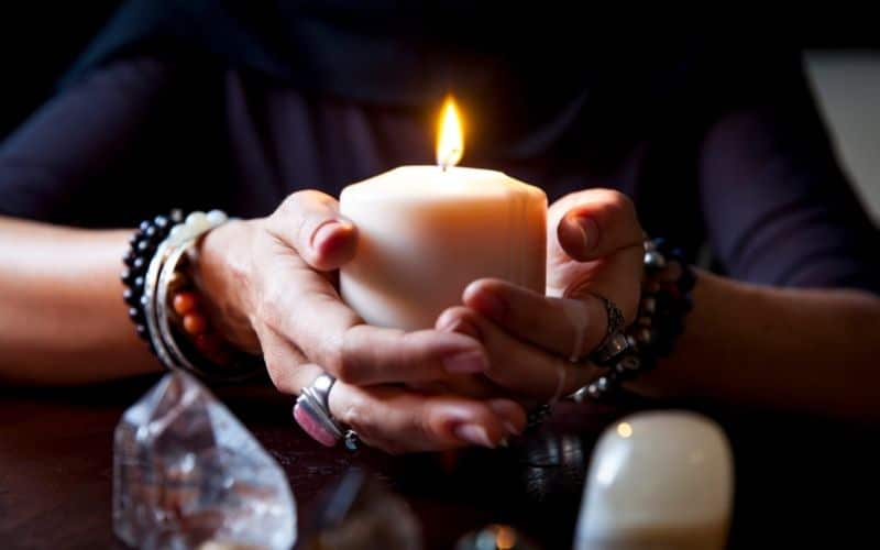photo of a candle - most common of the witch ingredients